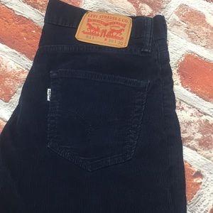 Levi's 511 Navy Blue Corduroy Pants